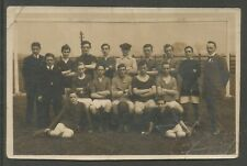 AMATEUR FOOTBALL TEAM PICTURE POSTCARD EARLY 20th CENTURY