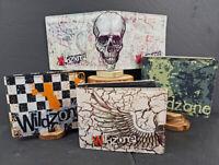 Herren Brieftasche, Geldbeutel, Geldbörse, Portemonnaie, Wallet  Leder mit Print
