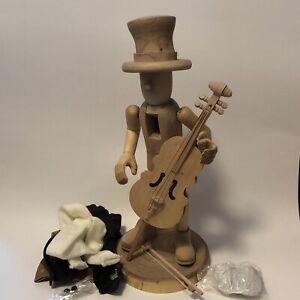 "Zim's Heirloom ""Urchin Minstrel Cello"" Wood Vintage Nutcracker Unpainted 02-112"