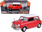 Motormax 73113red 1961-1967 Morris Mini Cooper Red with White Top Timeless Legen