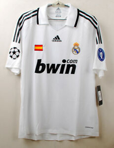 2008-09 Real MADRID Home S/S No.7 RAUL Player Issue UEFA Champions League Shirt