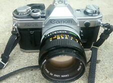 Canon AE-1 35mm Camera - Canon & Soligor Lenses  & Bag Film