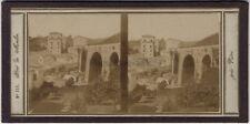 Vietri Pont près Naples Italie Italia Stereo Primitif papier sous verre ca 1855
