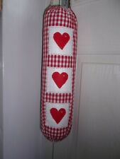 Red Gingham Carrier Bag Holder/Dispencer  Homecrafted Shabby Chic  t