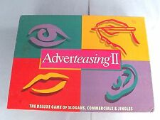 """""""ADVERTEASING II """" TRIVIA GAME w/PLAYING PIECES,1991, SLOGANS, JINGLES+MORE, USA"""
