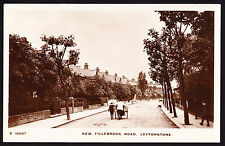 RPPC Real Photo Postcard New Fillebrook Road Leytonstone London East E11 Street