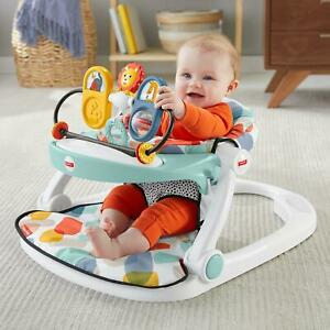 Fisher-Price Deluxe Sit-Me-Up Floor Seat Tray Portable Chair Supportive