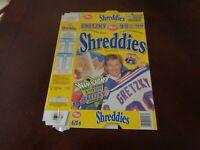 1998-99 Post Cereal Hockey Wayne Gretzky NY Rangers  Box - 4 Cards On Box - EXMT