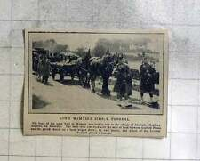 1914 Farm Wagon Funeral For Lord Wemyss, Aberlady, Haddingtonshire