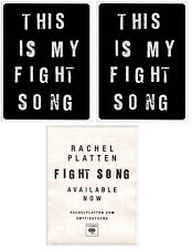 RACHEL PLATTEN Fight Song Wildfire 2016 Ltd Ed RARE Stickers +FREE Pop Stickers!