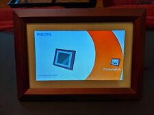 "PHILIPS Digital PhotoFrame SPF3402S/G7 10.1"" PICTURE FRAME in BROWN - Pre-owned"