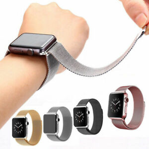 For Apple Watch Series 2/3/4/5/6/SE 38/40/42/44MM Milanese Loop Strap Watch Band