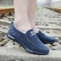 Men Driving Loafer Newest Breathable Casual Canvas Flats Slip On Boat Shoes Top;