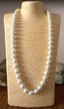 Collana Lunga di Perle da Donna Resina Color Bianco Perla Elegante Mare Sexy