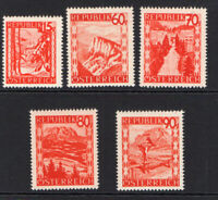 Austria Part Set of Groschen Stamps 1947-48 Unmounted Mint Never Hinged (7180)