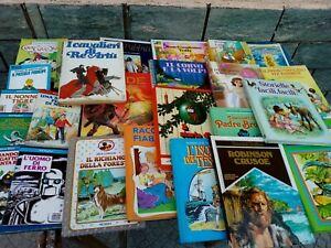 Lotto 25 Libri  Per Ragazzi Bambini Fiabe racconti vari titoli varie condizioni
