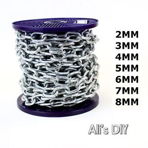 Hot Dipped Galvanised Steel Chain Heavy Duty Outdoor Durable Security Links