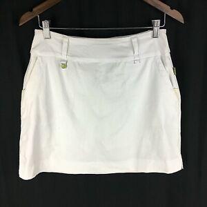 Swing Control Womens Tennis Golf Skirt Skort Size 4 White Short PGA