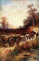 The Last Load England postcard Oilette antique Raphael Tuck & Sons
