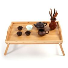 Bamboo Folding Lap Serving Tray Desk Bed Tea Food Breakfast Dinner Tv Table Top