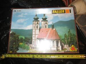 HO Scale Faller B-351 Church Kit. Box Factory sealed.