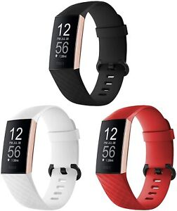 """3 Pack Charge 3 3SE 4 Replacement Silicone Red White and Black Sm 5.1""""-7.1"""""""