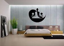 Wall Sticker Mural Decal Vinyl Decor Yin Yang Black And White Symbol Meditation