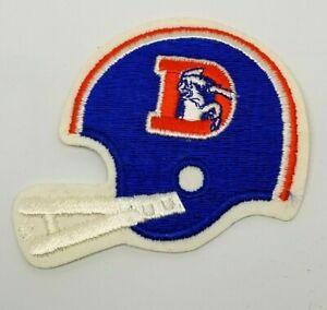 """Vintage 1980's 3"""" x 3.5"""" Denver Broncos Helmet Embroidered Patch NFL"""