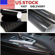 5D High Gloss Black Carbon fiber Vinyl Automotive Car Wrap Film Interior 12x60in