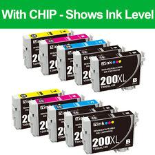 10PK T200XL Black & Color Ink Cartridge Replacement Set For Epson T200XL T200