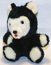 "Dakin Black Cherokee Bear Bean Bag Plush 1975 Hang Tag Vtg Stuffed Animal 6.5"""