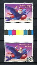 Christmas Islands 1995 SG#406, 80c Cto Used Gutter Pair Cat £5 #A50148