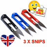 3 X Thread Snips Scissors Yarn Sewing Cutter Nipper Cloth Vapour Vape Coil UK