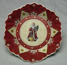 "VILLEROY & BOCH Toy's Fantasy Santa #1748 Embossed 9.5"" Plate Mettlach NWT!"