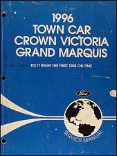 1996 Shop Manual 96 Lincoln Town Car Ford Crown Victoria Mercury Grand Marquis