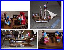 Rare Italian Playset Disney Pirate Ship Donald Daisy Mickey Peter Big and Cute !