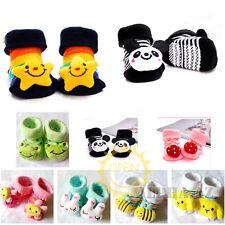 Cotton 3D Animal Short Boot Sock Slipper Shoe f Infant  Baby Kid Toddler Newborn