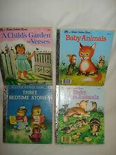 Set of 4 Vintage Little Golden Books by Garth Williams, 1950 Hardcover