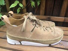 Clarks Originals Trigenic Flex Trainers size 8 Brown Suede Shoes
