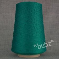 Zegna Baruffa extra fine pura lana merio 2/60s verde smeraldo filo 1 strati TELA DEL RAGNO