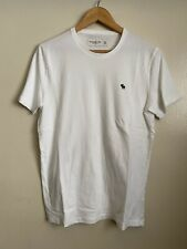 Abercrombie & Fitch Men's Icon T-Shirt in White - Medium
