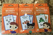 Flash Cards Spelling, Phonics and Money Flash Cards - 3 Pack/36 cards per Pack