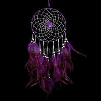 1pc Large Purple Rose Circle Dream Catcher Decorative Hanging Craft Children