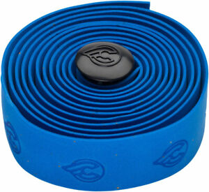 Cinelli Cork Ribbon Handlebar Tape Blue W/ Cinelli Logo Includes Handlebar Plugs