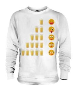 Birra Emoticons Unisex Maglione Regalo Social Media Bere