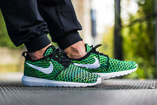 NIKE ROSHE NM FLYKNIT Running Trainers Shoes Gym Casual  - UK 10 (EUR 45) Green