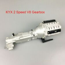 KYX Axial SCX10 II Scale CNC Machined 2 Speed Gearbox W/ Scale V8 Motor Housing