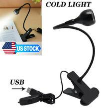 3W USB LED Clamp Clip Lamp Light Button+Plug Flexible Desktop Studying Lighting