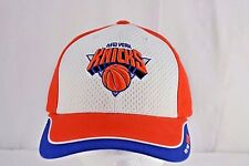 newest 5cd54 5c2b5 New York Knicks White Orange Blue Baseball Cap Adjustable