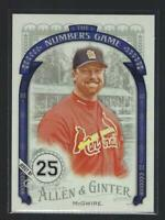 2016 Topps Allen and Ginter The Numbers Game  #NG2  MARK McGWIRE   CARDINALS